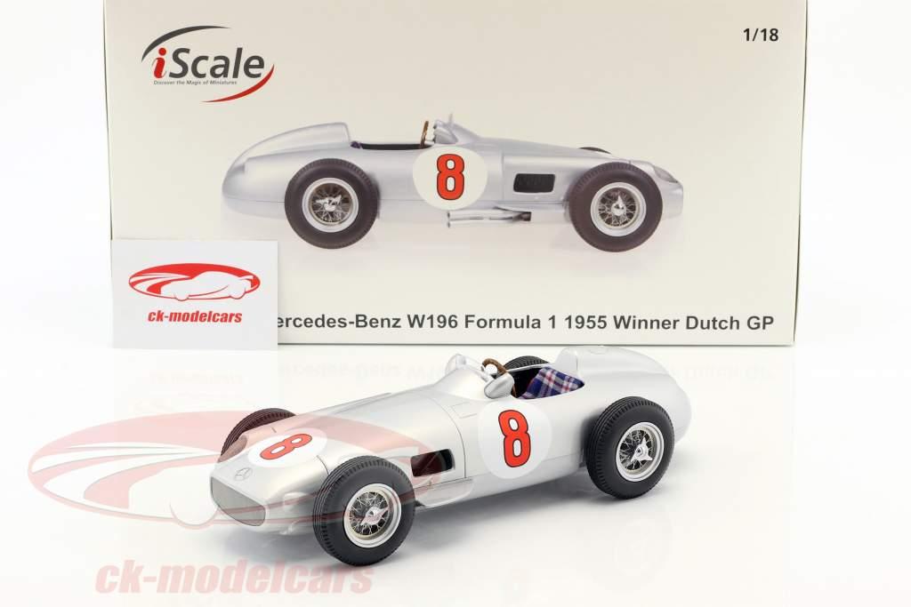 J.-M. Fangio Mercedes-Benz W196 #8 world champion Formula 1 1955 1:18 iScale