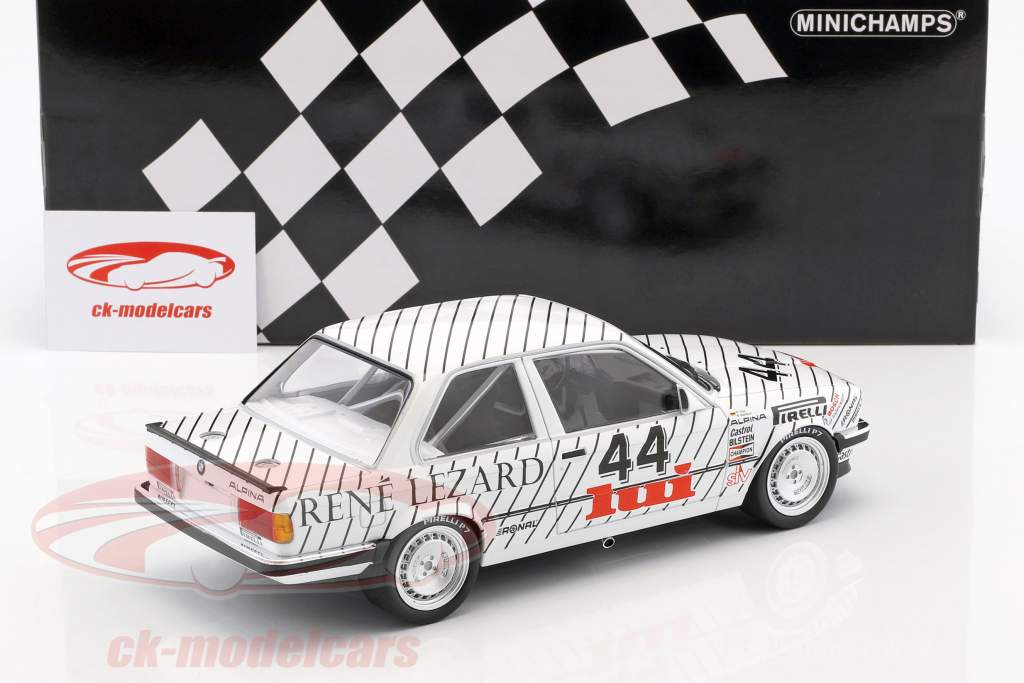 BMW 325i #44 vencedor da classe E.G. Trophy ETCC Zolder 1986 Vogt, Oestreich 1:18 Minichamps