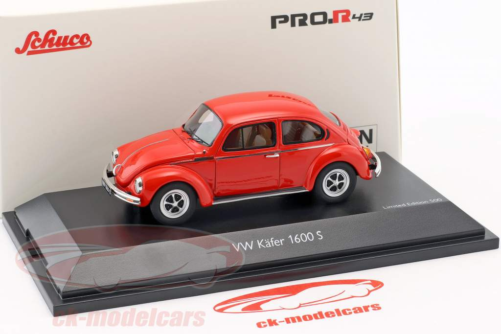 Volkswagen VW scarafaggio 1600-S Super Bug rosso 1:43 Schuco