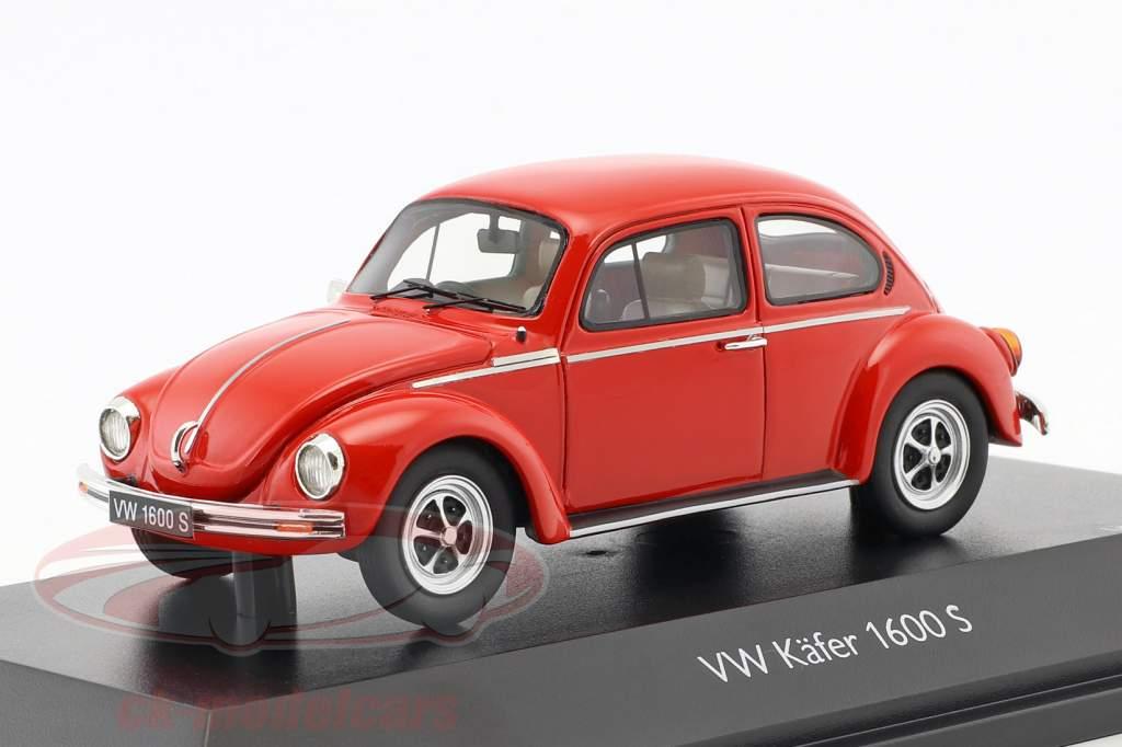 Volkswagen VW bille 1600-S Super Bug rød 1:43 Schuco