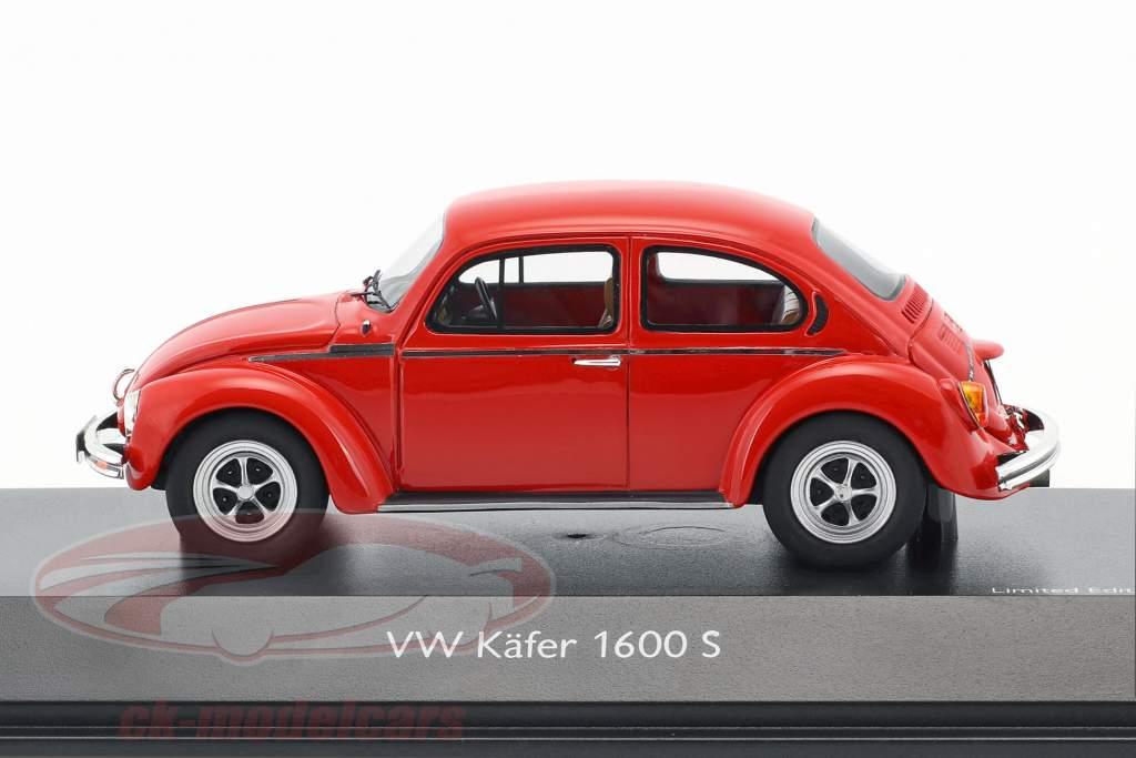 Volkswagen VW Beetle 1600-S Super Bug red 1:43 Schuco