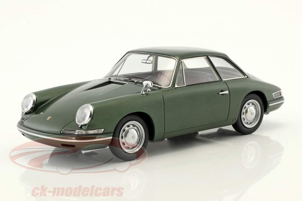 Porsche 754 T7 coupe prototipo 1959 verde metálico con escaparate 1:18 AutoCult