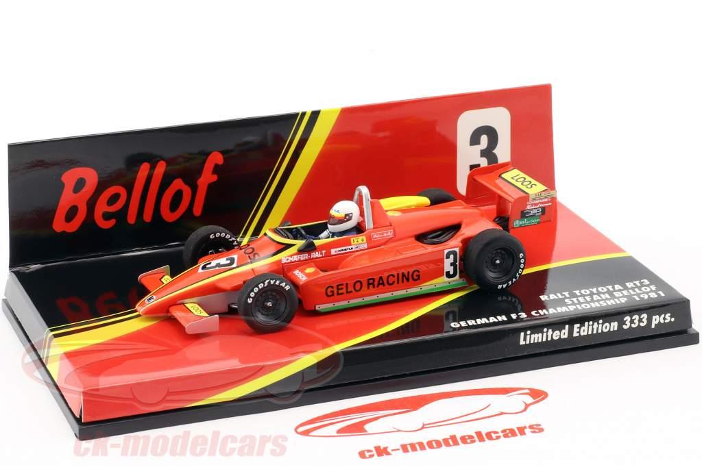 Stefan Bellof Ralt RT3 #3 fórmula 3 campeonato 1981 1:43 Minichamps