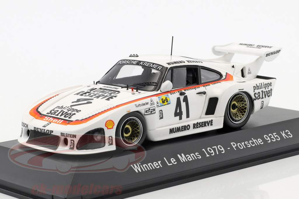 Porsche 935 K3 #41 Vincitore 24 LeMans 1979 Kremer Corse 1:43 Spark