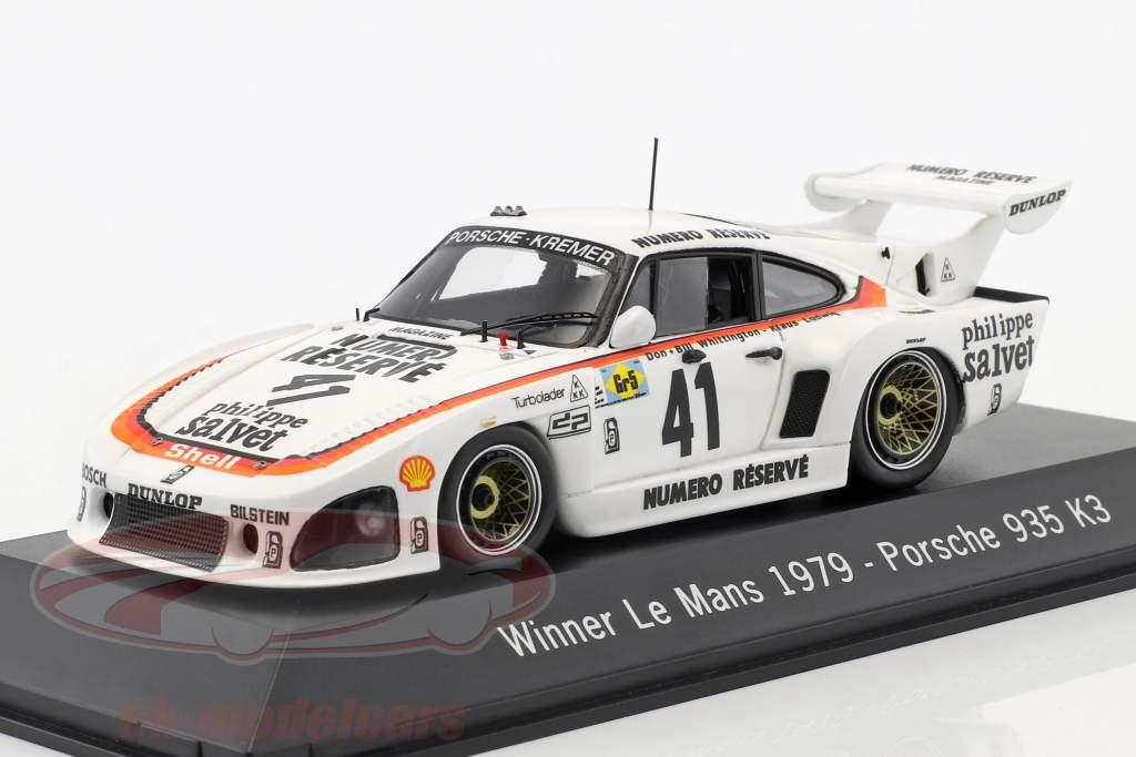 Porsche 935 K3 #41 Winner 24 LeMans 1979 Kremer Racing 1:43 Spark