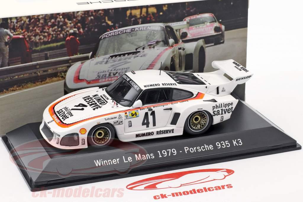 Porsche 935 K3 #41 Vencedor 24 LeMans 1979 Kremer Corrida 1:43 Spark