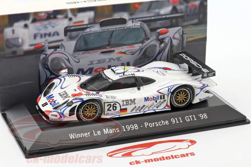 Porsche 911 GT1 #26 Winner 24h Le Mans 1998 McNish, Aiello, Ortelli 1:43 Spark