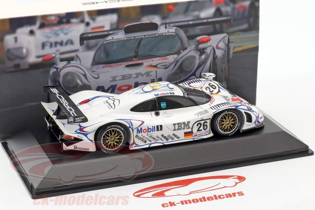 Porsche 911 GT1 N° 26 Vainqueur 24h LeMans 1998 McNish, Aiello, Ortelli 1:43 Spark