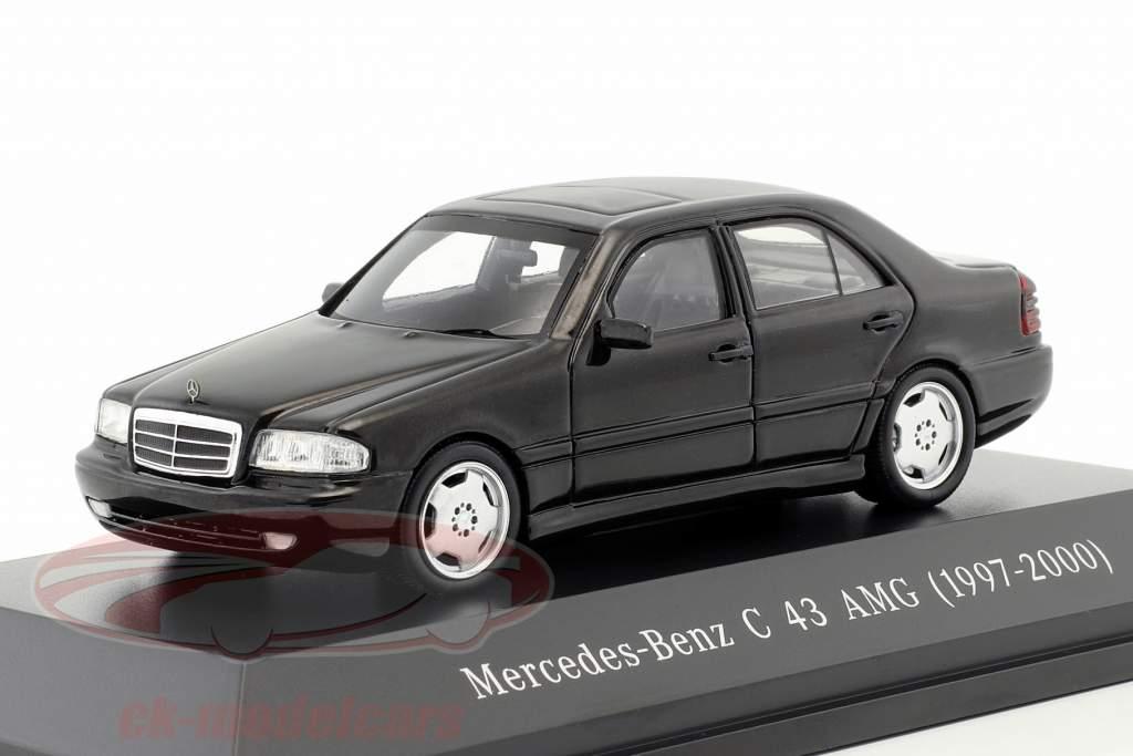 Mercedes-Benz C43 AMG année de construction 1997-2000 noir 1:43 Spark