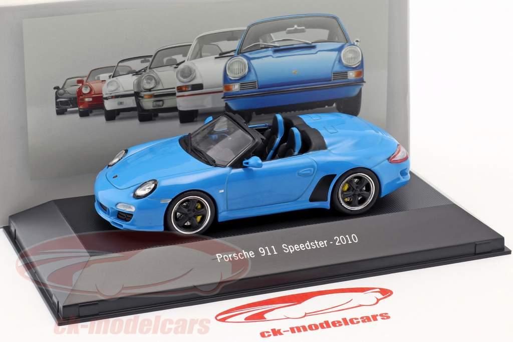 Porsche 911 (997) Speedster ano de construção 2010 azul 1:43 Atlas