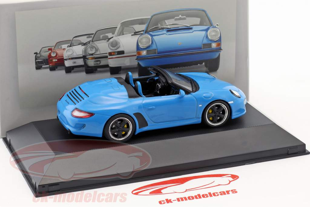 Porsche 911 (997) Speedster year 2010 blue 1:43 Atlas