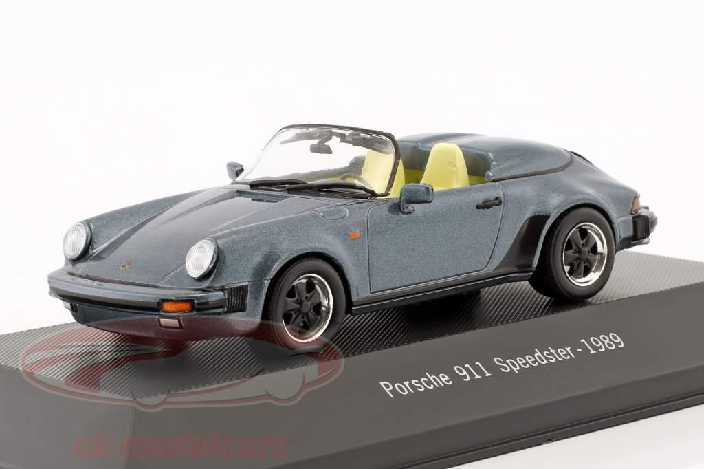 Porsche 911 Speedster Opførselsår 1989 blå metallisk 1:43 Atlas