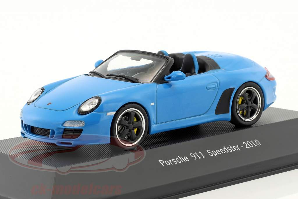 Porsche 911 (997) Speedster année de construction 2010 bleu 1:43 Atlas