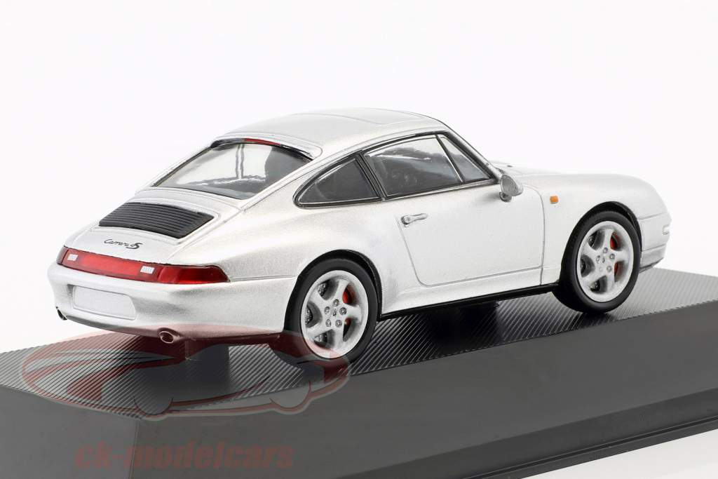 Porsche 911 (993) Carrera 4S year 1995 silver metallic 1:43 Atlas