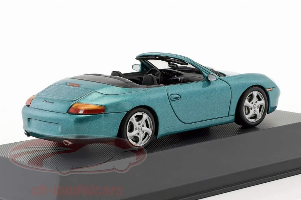 Porsche 911 (996) Carrera cabriolet anno di costruzione 1999 verde metallico 1:43 Atlas