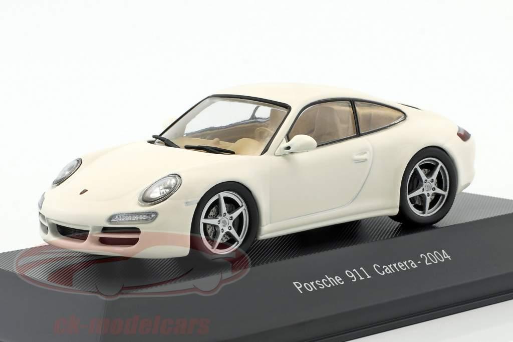 Porsche 911 (997) Carrera Bouwjaar 2004 wit 1:43 Atlas