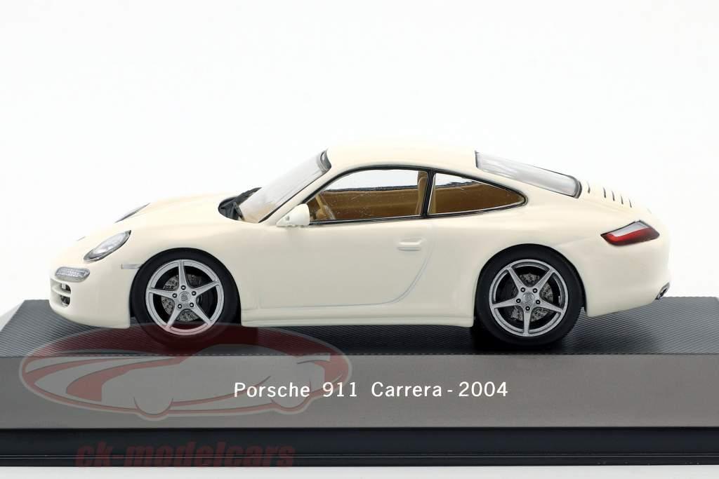 Porsche 911 (997) Carrera année de construction 2004 blanc 1:43 Atlas