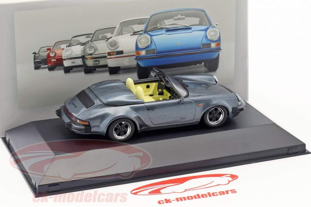 Porsche 911 Speedster año de construcción 1989 azul metálico 1:43 Atlas