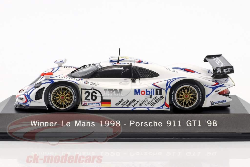 Porsche 911 GT1 #26 Winner 24h LeMans 1998 McNish, Aiello, Ortelli 1:43 Spark