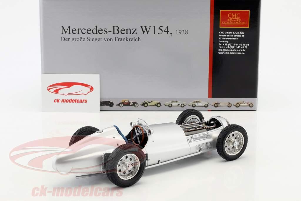 Mercedes-Benz W154 fórmula 1 1938 o grande vencedor de França 1:18 CMC