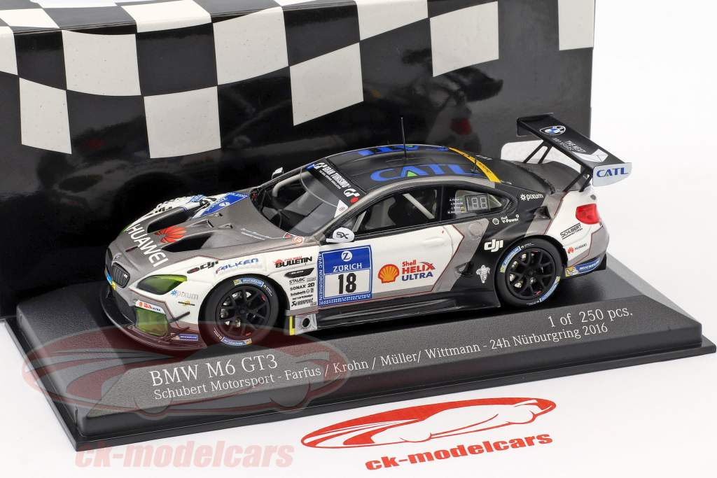 BMW M6 GT3 #18 24h Nürburgring 2016 Schubert Motorsport 1:43 Minichamps