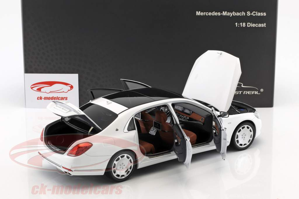 Mercedes-Benz Maybach S-Class year 2016 diamond white 1:18 Almost Real