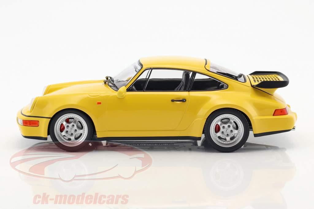 Porsche 911 (964) Turbo year 1990 yellow 1:18 Minichamps