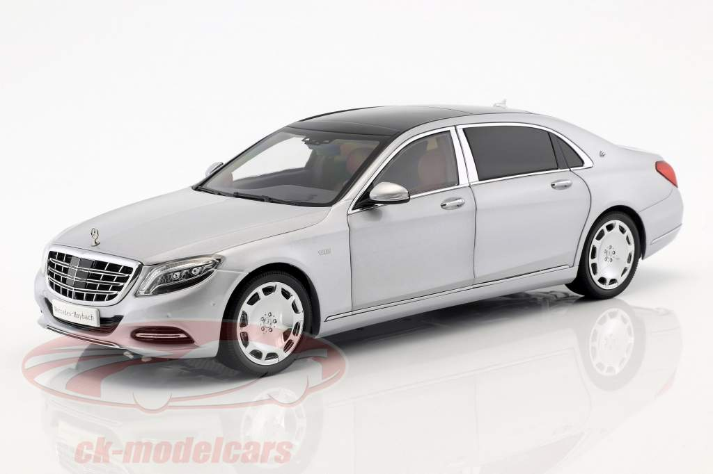 Mercedes-Benz Maybach S-Class Opførselsår 2016 iridium sølv 1:18 Almost Real