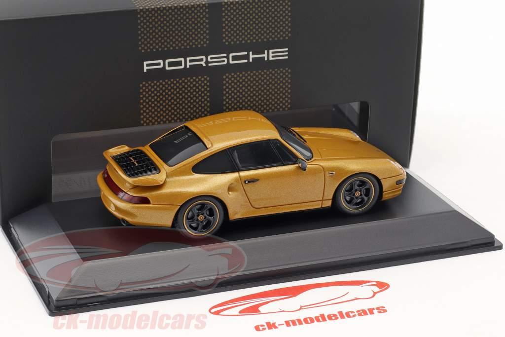 Porsche 911 (993) Turbo Classic Series Project Gold année de construction 2018 or métallique jaune 1:43 Spark