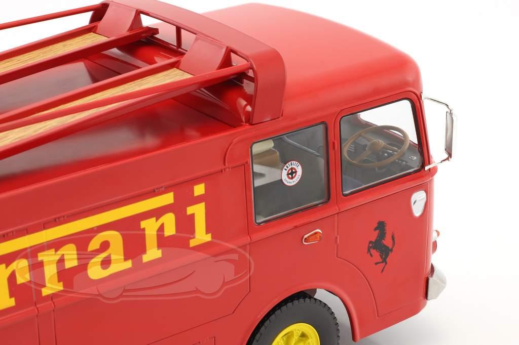 Fiat Bartoletti 306/2 courses transporteur Ferrari JCB Racing rouge 1:18 Norev
