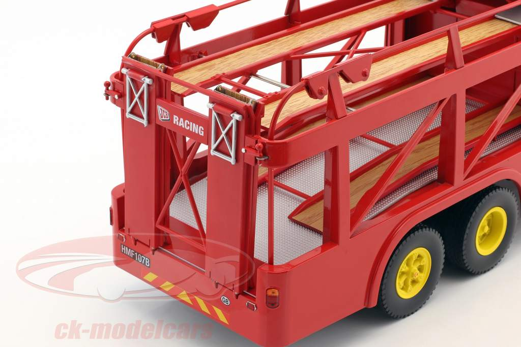 Fiat Bartoletti 306/2 Racing transporter Ferrari JCB Racing red 1:18 Norev