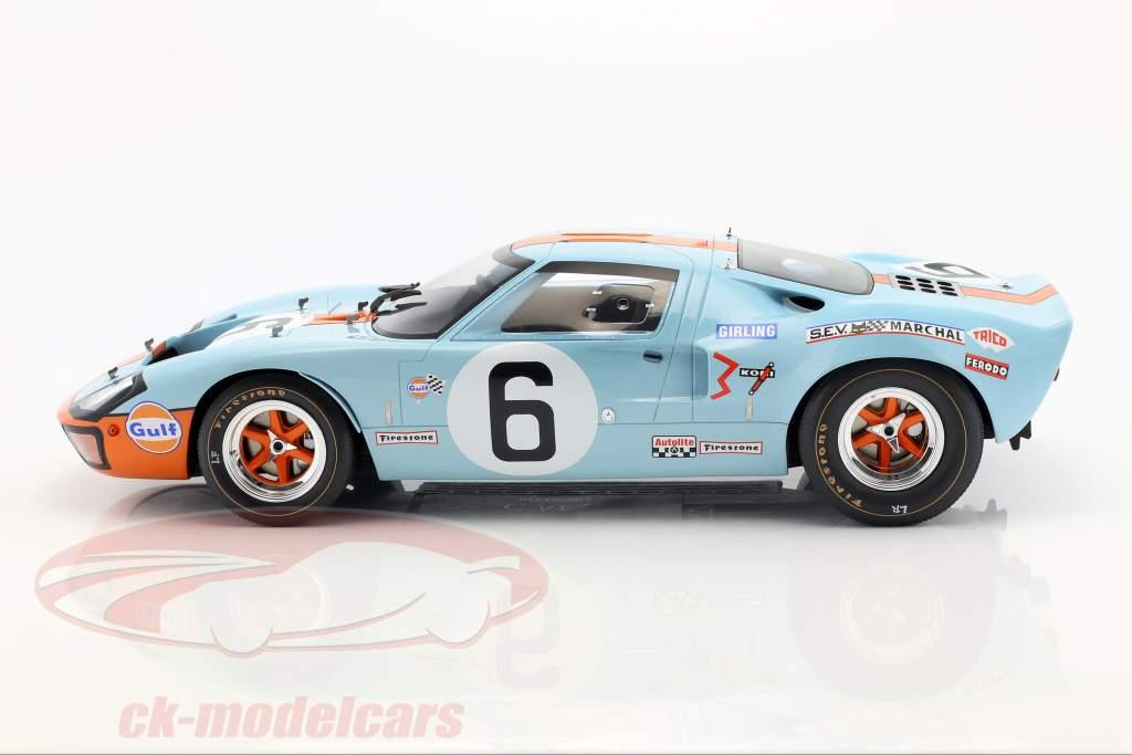 Ford GT40 Mk I #6 gagnant 24h LeMans 1969 Ickx, Oliver 1:12 CMR