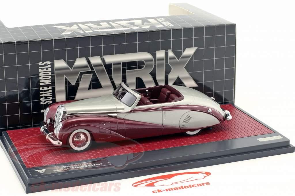 Daimler DE36 Hooper Green Goddess prata / roxo metálico 1:43 Matrix