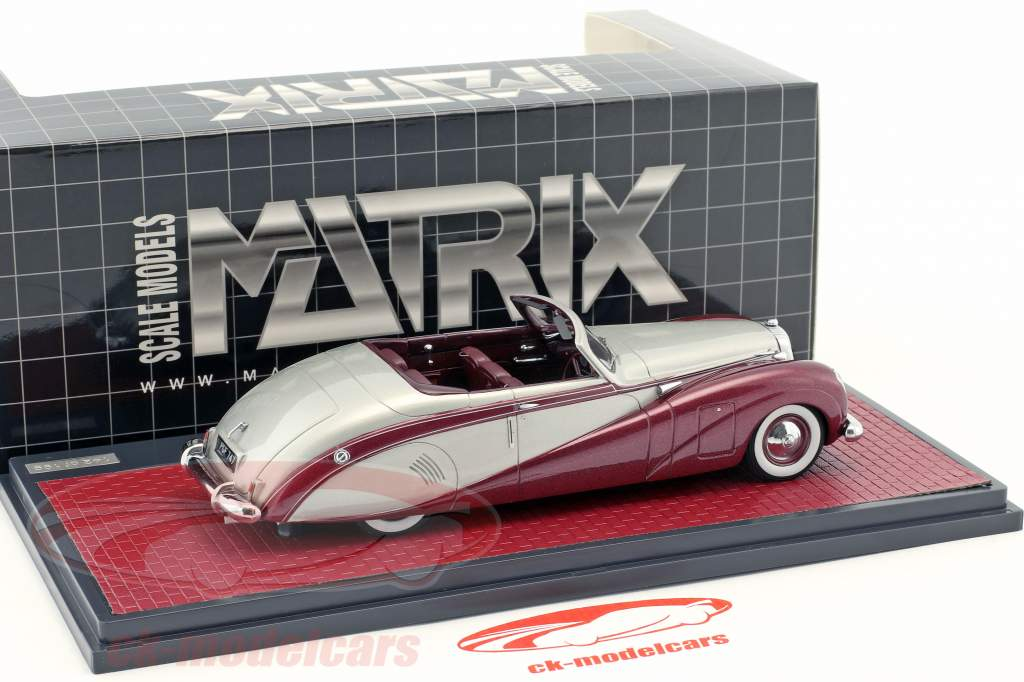 Daimler DE36 Hooper Green Goddess silber / dunkelrot metallic 1:43 Matrix