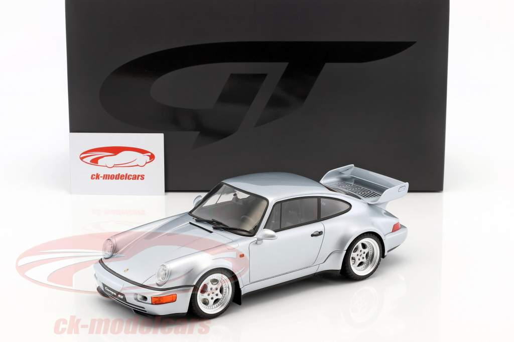 Porsche 911 (964) Carrera RS 3.8 année de construction 1990 polaire argent 1:18 GT-Spirit
