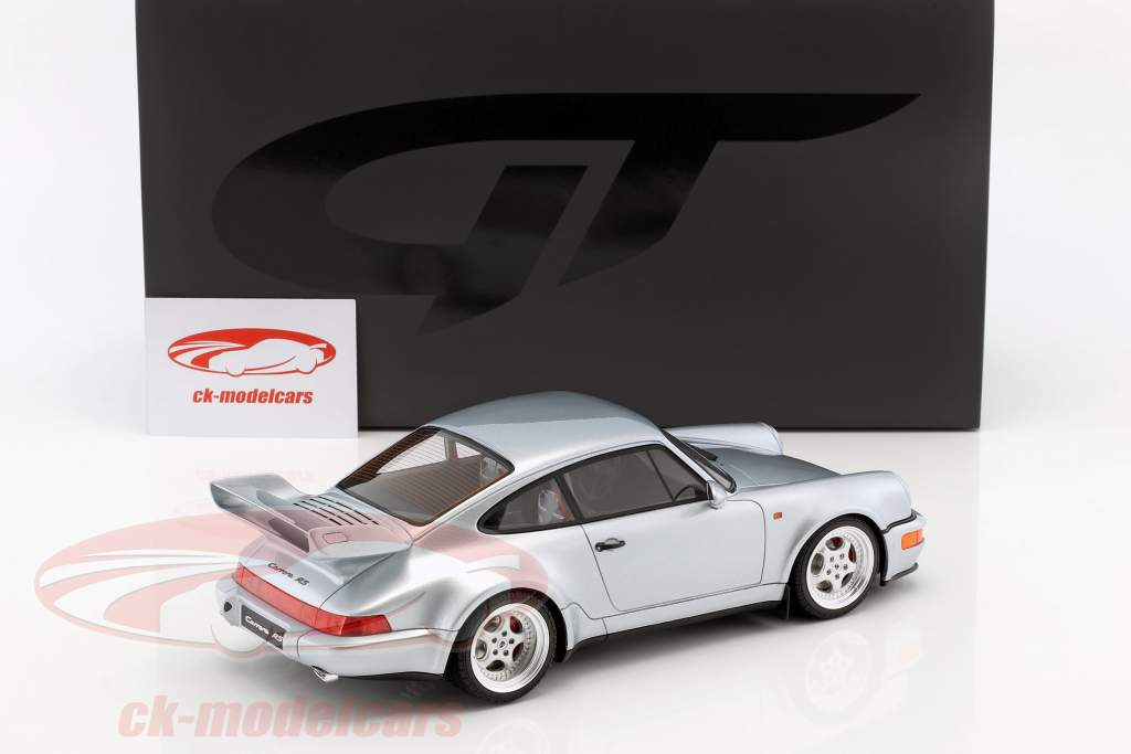 Porsche 911 (964) Carrera RS 3.8 year 1990 polar silver 1:18 GT-Spirit