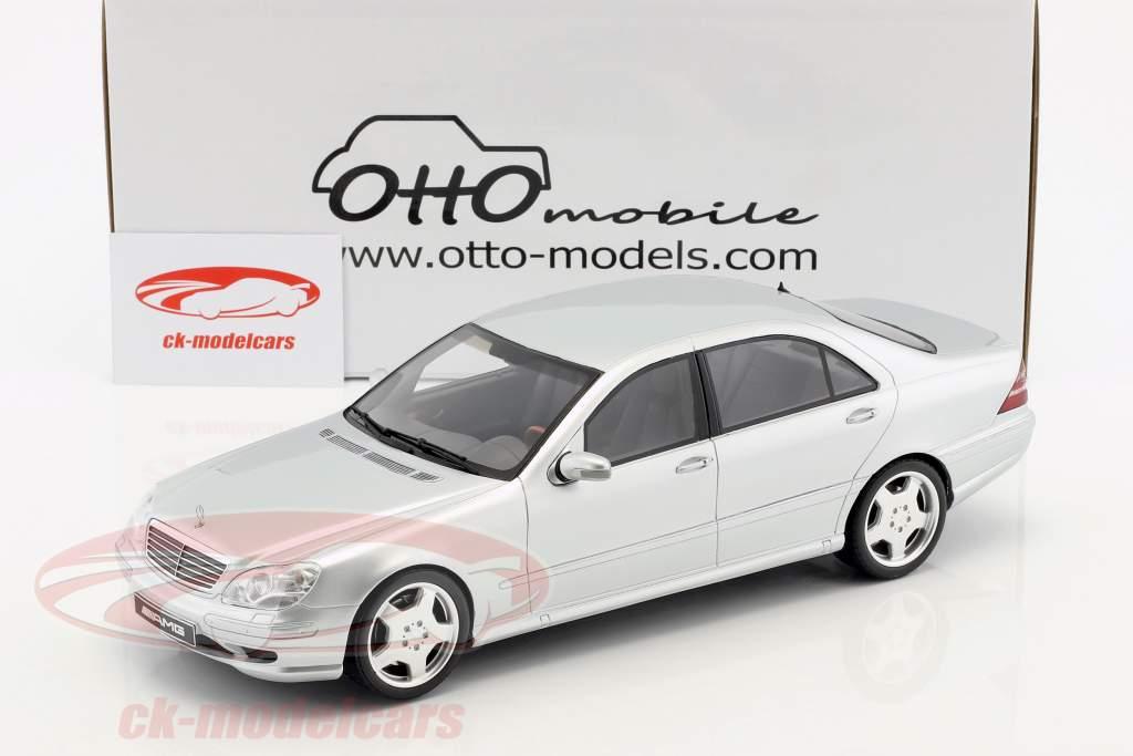 Mercedes-Benz S55 AMG (W220) Baujahr 2000 brilliant silber 1:18 OttOmobile