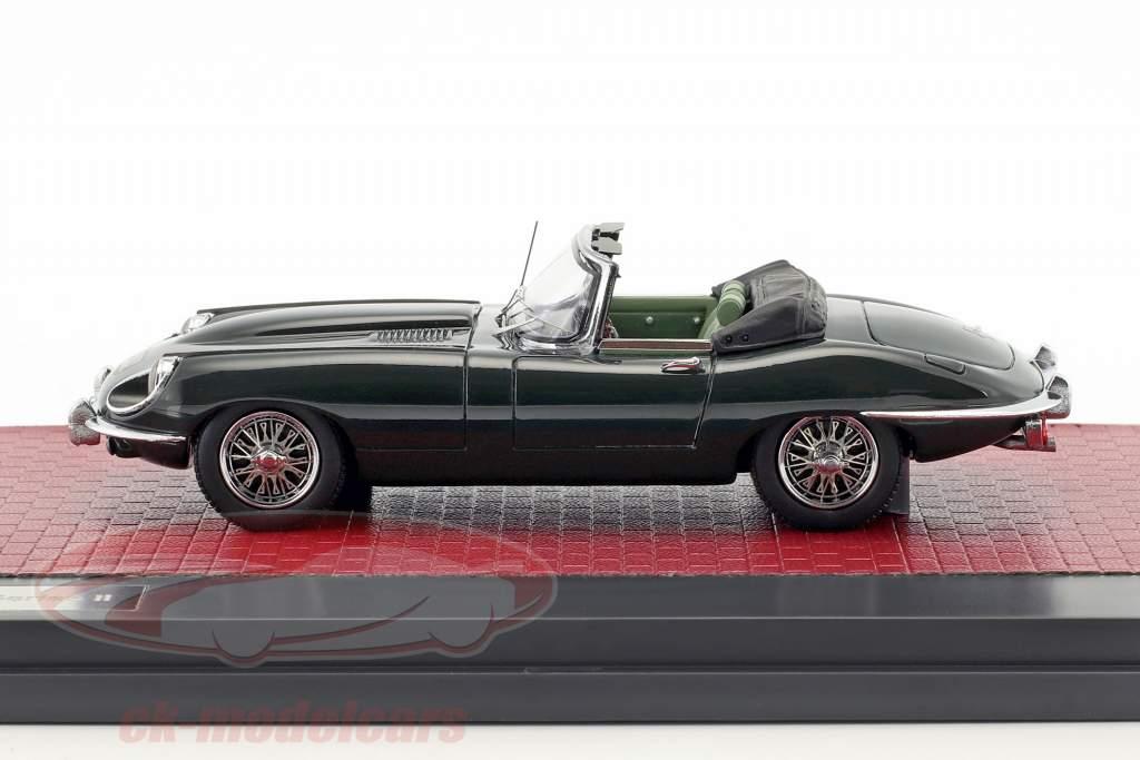 Jaguar E-Type SII Roadster year 1970 dark green metallic 1:43 Matrix