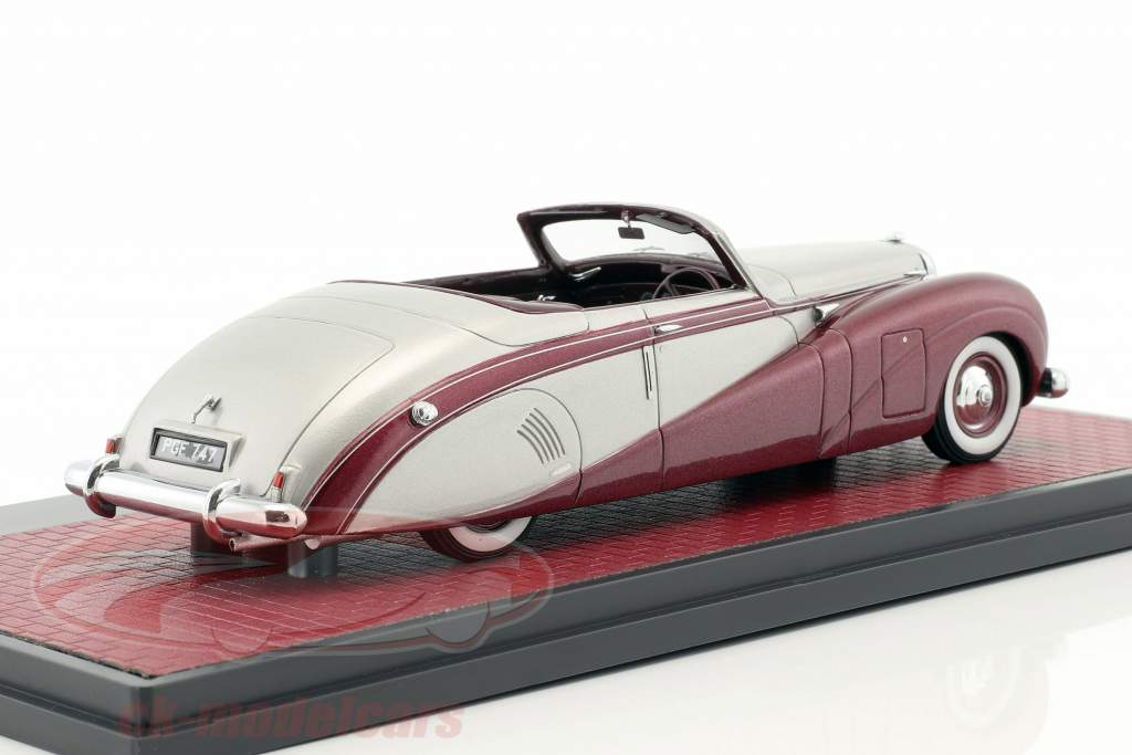 Daimler DE36 Hooper Green Goddess sølv / lilla metallisk 1:43 Matrix