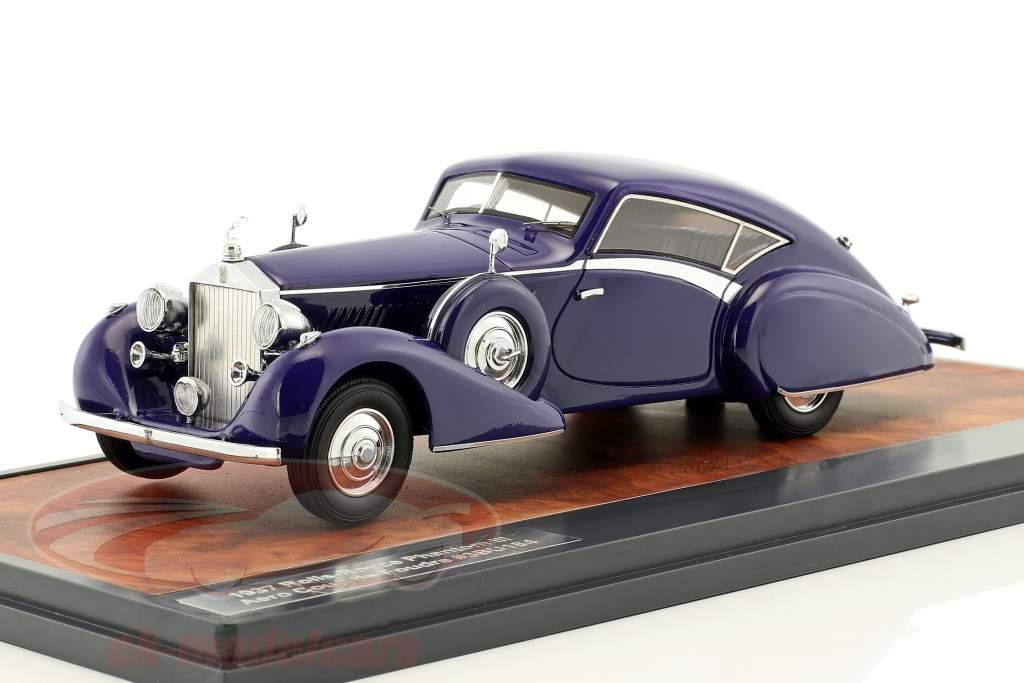 Rolls-Royce Phantom III Aero Coup de Foudre year 1937 purple 1:43 Matrix