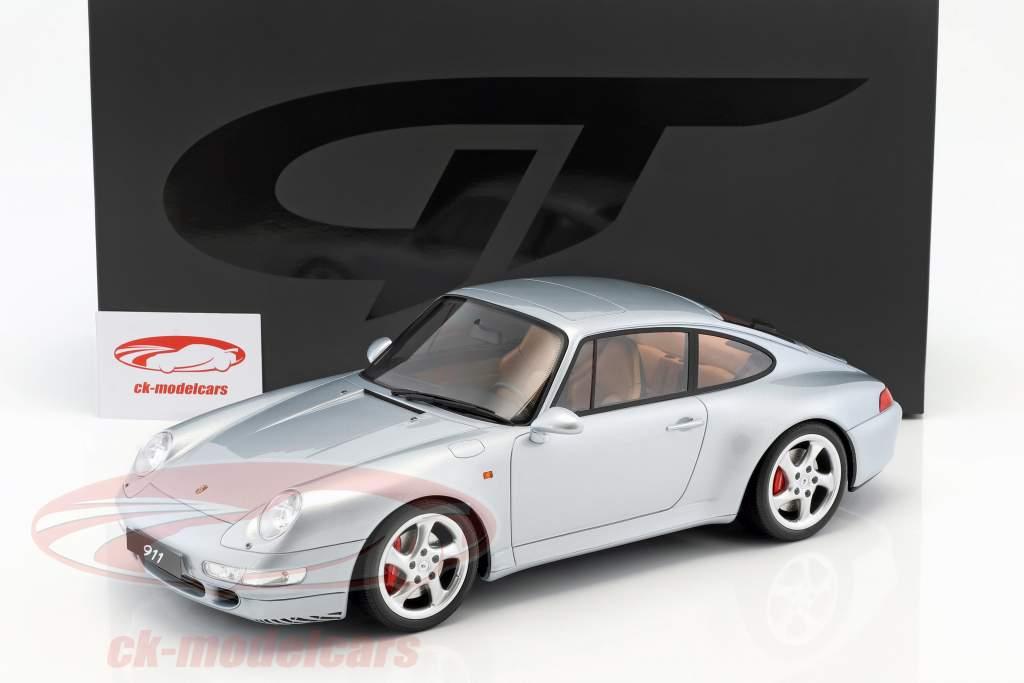 Porsche 911 (993) Carrera 4S Bouwjaar 1993 polair zilver 1:12 GT-Spirit