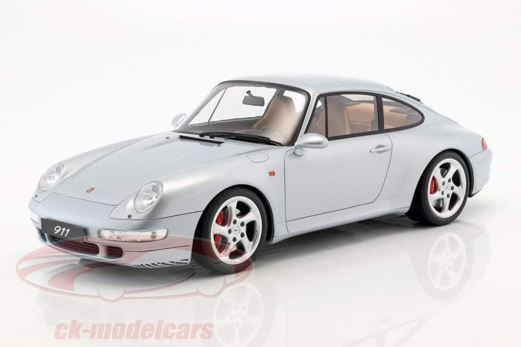 Porsche 911 (993) Carrera 4S year 1993 polar silver 1:12 GT-Spirit
