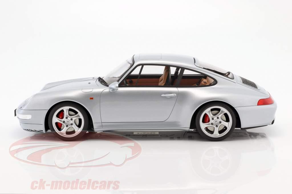 Porsche 911 (993) Carrera 4S Opførselsår 1993 polær sølv 1:12 GT-Spirit