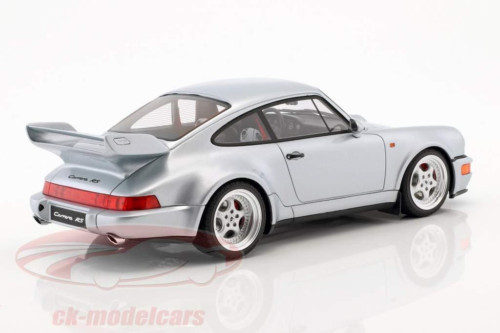 Porsche 911 (964) Carrera RS 3.8 Opførselsår 1990 polær sølv 1:18 GT-Spirit