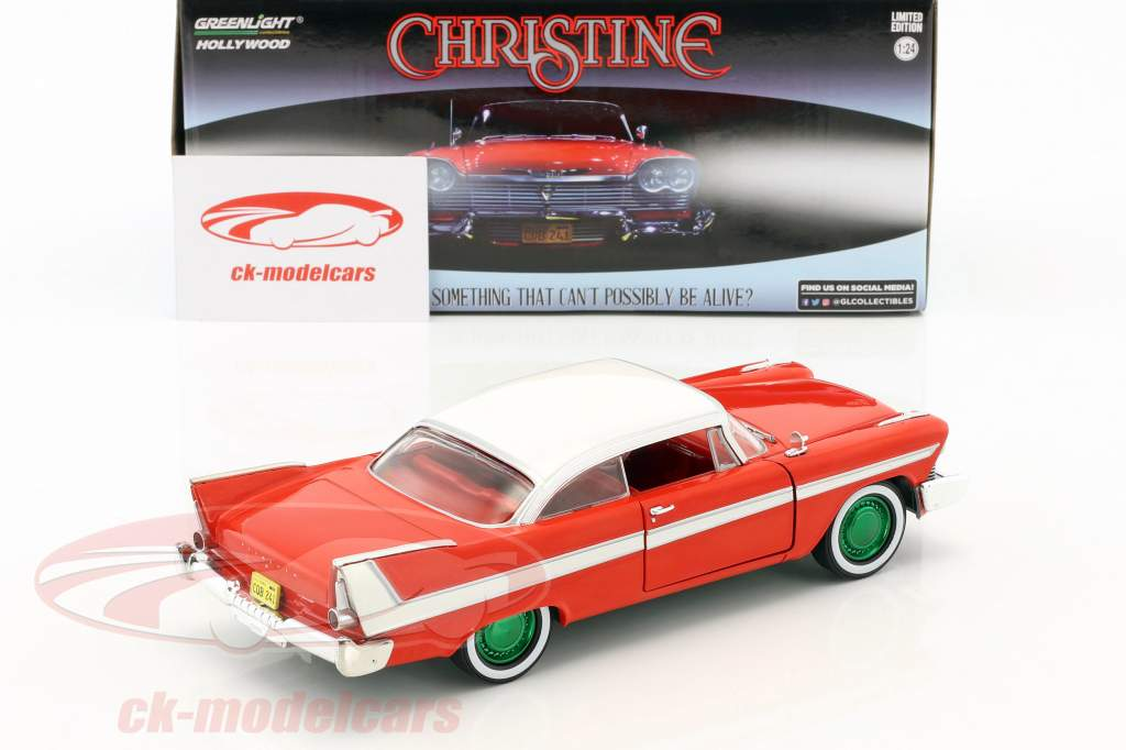 Plymouth Fury année de construction 1958 film Christine (1983) rouge / blanc / argent / vert 1:24 Greenlight