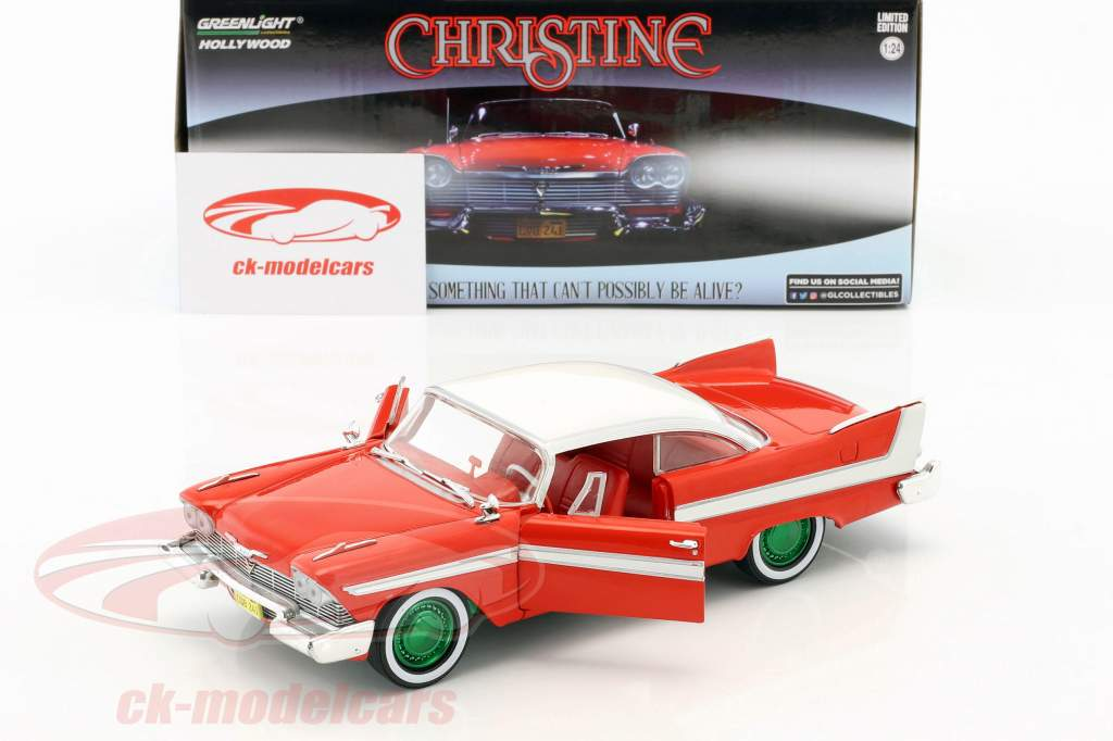 Plymouth Fury Opførselsår 1958 film Christine (1983) rød / hvid / sølv / grøn 1:24 Greenlight