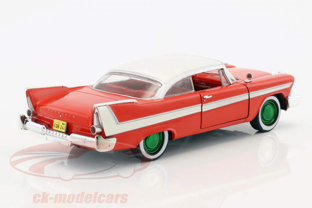 Plymouth Fury ano de construção 1958 filme Christine (1983) vermelho / branco / prata / verde 1:24 Greenlight