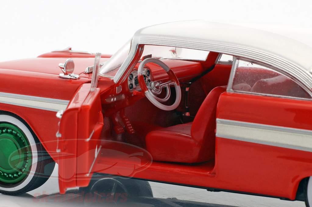 Plymouth Fury año de construcción 1958 película Christine (1983) rojo / blanco / plata / verde 1:24 Greenlight