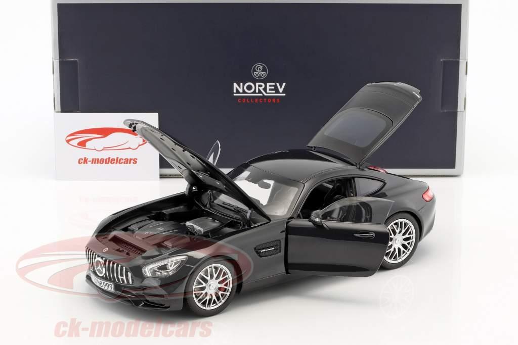 Mercedes-Benz AMG GT S year 2018 black metallic 1:18 Norev