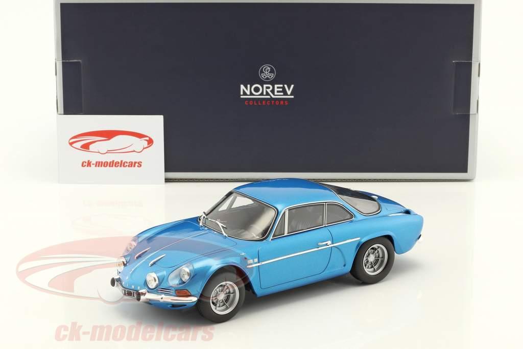 Alpine Renault A110 1600S anno di costruzione 1971 blu metallico 1:18 Norev